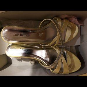 Rhinestone open toe kitten heels